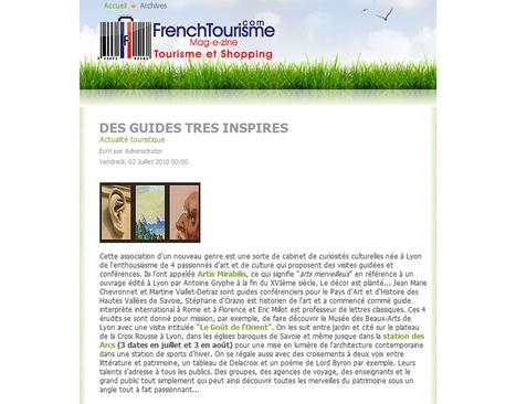 Des guides très inspirés | juillet 2010 | French Tourisme | ARTIS MIRABILIS : toute la revue de presse | Scoop.it
