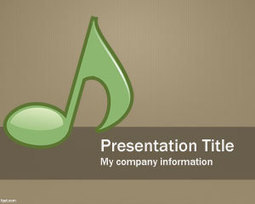 Musical PowerPoint Template | Free Powerpoint Templates | effective presentation | Scoop.it