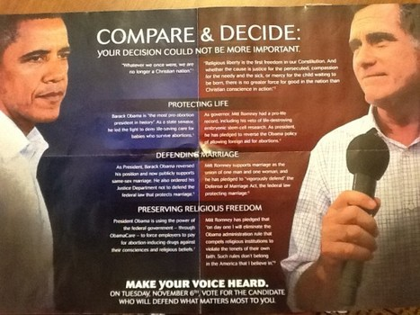 Right-Wing Fliers Claim Obama Is Anti-Christian | Gender, Religion, & Politics | Scoop.it