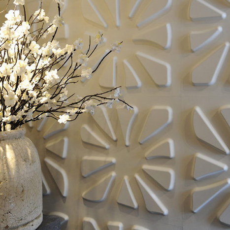 New 100% Recycled and Biodegradable 3D Wall Panels by WallArt | Recycled architecture and design | Scoop.it