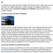 Les circuits Thailande aux activités balnéaires | Circuits et voyage Thailande | Scoop.it