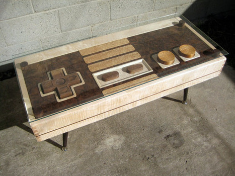 Fine Wood NES Controller Coffee Table | Maker Stuff | Scoop.it