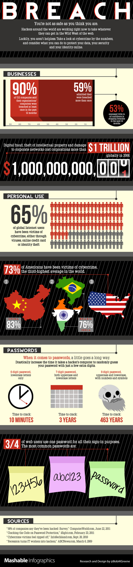 65% of Internet Users Are Cybercrime Victims [INFOGRAPHIC] | CyberCrimes | Scoop.it