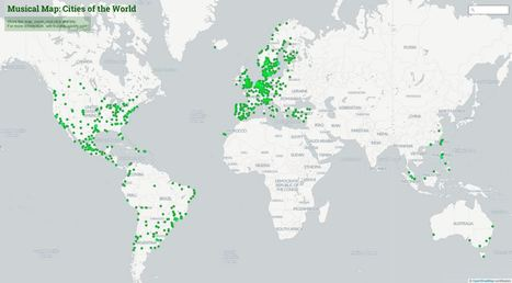 Spotify's Music Map lets you listen to local tastes from around the world | Socialart | Scoop.it