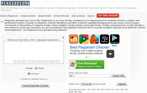 Plagiarisma.Net: Plagiarism Checker | Digital citizenship | Scoop.it