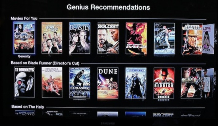 Apple TV gets into video discovery, adds movie and TV show Genius Recommendations | Machinimania | Scoop.it