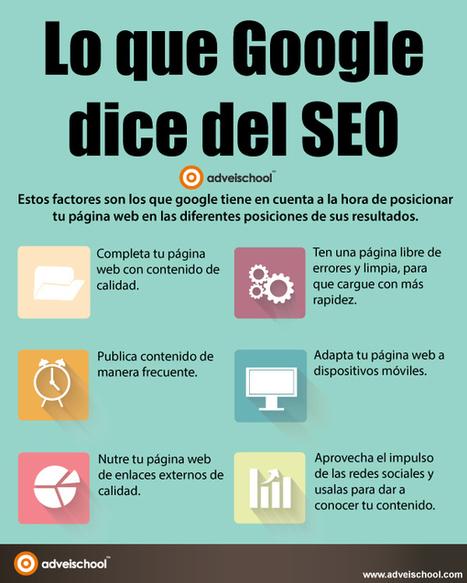 Lo que Google dice del SEO #infografia #infographic #seo | Educación con tecnología | Scoop.it