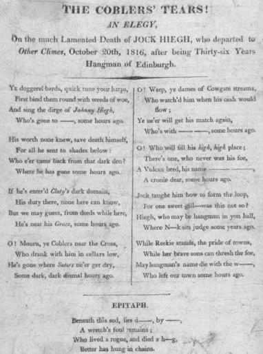 Broadside entitled 'The Coblers' Tears!' | British Genealogy | Scoop.it