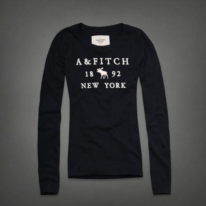 2013 Abercrombie and Fitch Naiset Pitkähihainen pyöreä kaula-aukkoinen t-paita F023 Tummansininen Joulumyyjäiset | holliter world | Scoop.it