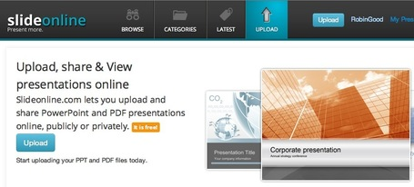 Upload and Share All Your PDF and PowerPoint Presentations With This New SlideShare Alternative: SlideOnline | Presentation Tools | Scoop.it