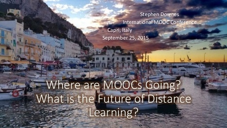 Where are MOOCs Going? What is the Future of Distance Learning? | Café puntocom Leche | Scoop.it
