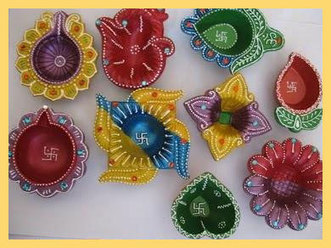 Diwali Diya Decoration Ideas | Latest Handicraf...
