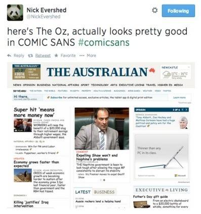 Comic sans sparks media war of words - mUmBRELLA   Holy Hashtags!   Scoop.it