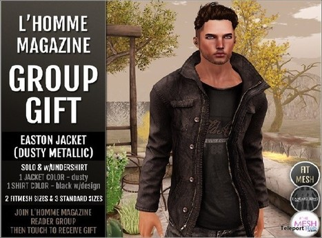 Easton Jacket Dusty L'Homme Magazine Group Gift by Cold Ash | Teleport Hub - Second Life Freebies | Second Life Freebies | Scoop.it