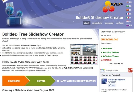 Freeware Slideshow Creator. Create MKV/AVI/WMV video slideshow with your photo | 1-MegaAulas - Ferramentas Educativas WEB 2.0 | Scoop.it