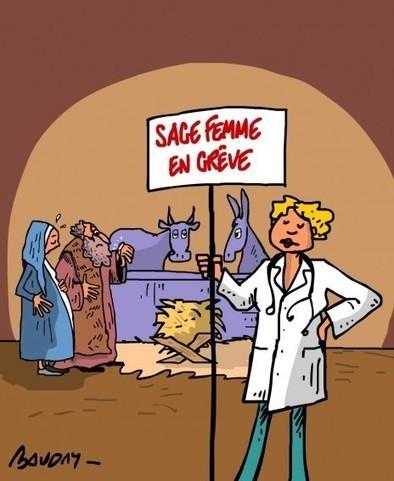 Sage femme en grève | Baie d'humour | Scoop.it