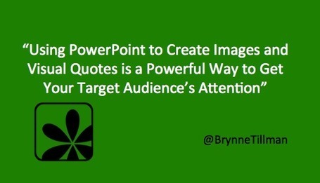 Use PowerPoint to Stand Out on LinkedIn, Twitter and Beyond | Social Selling | Scoop.it