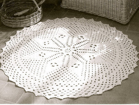 INSTANT DOWNLOAD-Vintage crochet pattern for lace stitch rug-pdf email delivery by VintageVisageonEtsy | Information Governance | Scoop.it