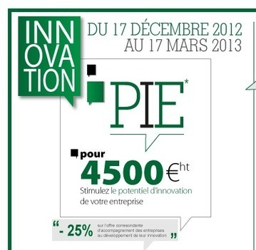 PIE - Programme d'Innovation pour les Entreprises en Bretagne - Évaluation du potentiel d'innovation, stimulation de la créativité dans les entreprises - du 17 décembre 2012 au 17 mars 2013 | L'innovation ouverte | Scoop.it