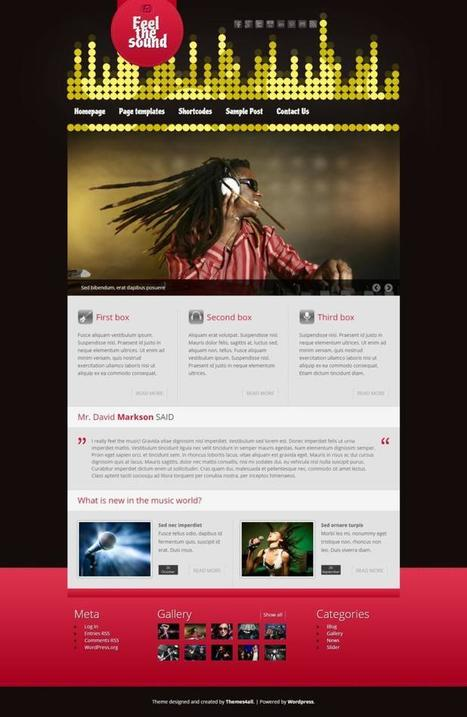 Best Free WordPress Themes For Musicians & Bands Sites | Creative Wordpress Theme | Scoop.it