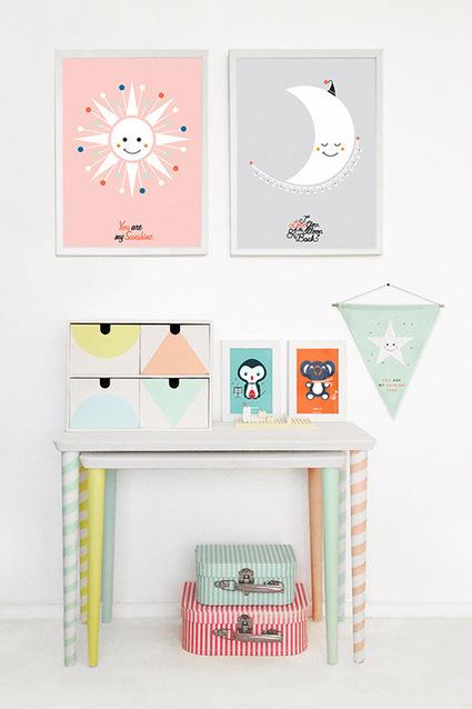DIY : un bureau graphique et coloré pour les enfants | décoration & déco | Scoop.it