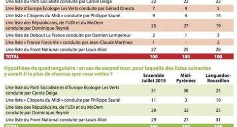 Régionales 2015 : le FN en tête en Midi-Pyrénées - Languedoc-Roussillon selon un sondage exclusif | Toulouse La Ville Rose | Scoop.it