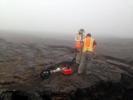 "RIS4E Science on Twitter: ""Collecting Ground Penetrating Radar (GPR) to help understand the subsurface lava flow stratigraphy and structure. http://t.co/vYrMojUc1j"" 