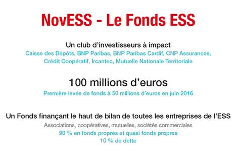 NovESS, 100 millions d'euros d'investissements pour l'ESS   Say Yess   Innovations sociétales, RSE, Philanthropie   Scoop.it