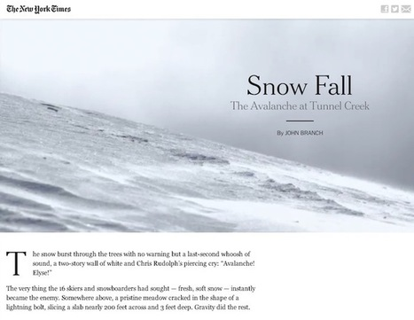 The 'Snow Fall' effect and dissecting the multimedia longform narrative | MultimediaShooter | Stories - an experience for your audience - | Scoop.it