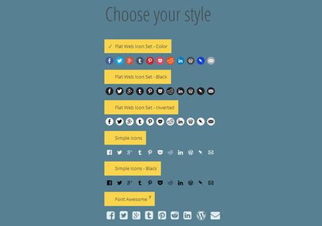 Generador de iconos sociales online   Creativos   Scoop.it