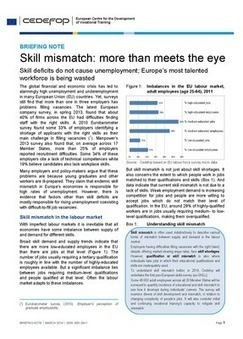 Cedefop | Publications | Briefing note - Skill mismatch: more than meets the eye | Ressources de la formation | Scoop.it