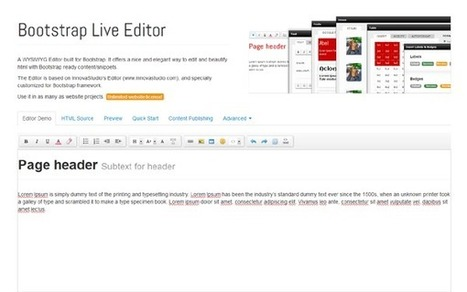 Bootstrap Live Editor - WrapBootstrap: Themes for Twitter Bootstrap | Using WordPress | Scoop.it