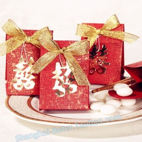 12pcs TH008 Double Happiness Wedding Favor BoxParty Decor | Wedding Gifts | Scoop.it