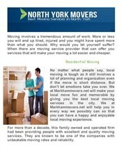 Movers In North York | North York Movers (Moving Company) | Scoop.it