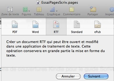 Scrivener : importer des documents écrits sur Pages | J'écris mon premier roman | Scoop.it