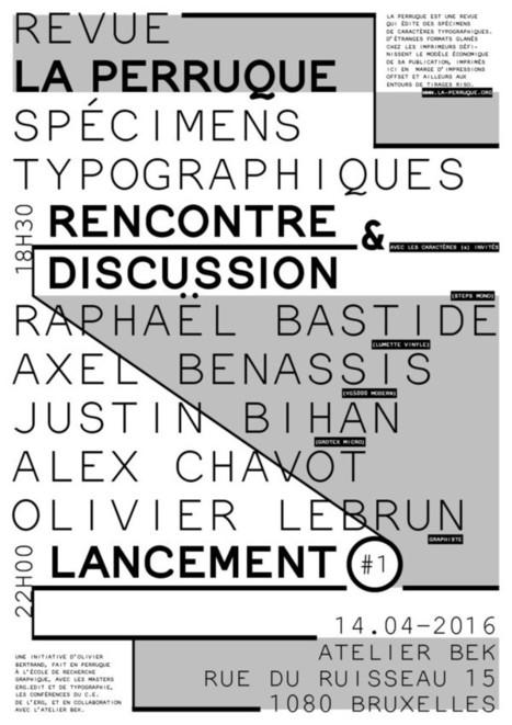 Lancement de la revue typographique La Perruque | Stratégie digitale : communiquez sur le web avec Manuel GALAN | Scoop.it