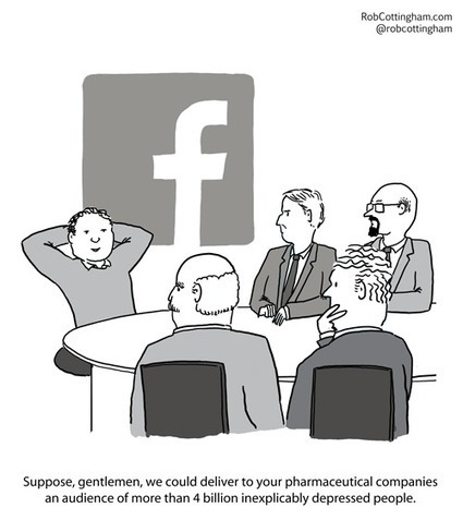 Cartoon: I love Facebook. It's better than LOLcats. I want to use it again and again. | Tudo o resto | Scoop.it