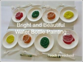 Bright and beautiful water bottle flower painting in preschool | Teach Preschool | Scoop.it