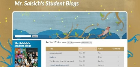 Student blogs and student voice – Redefining my role: Teacher as student | Blogging students | Scoop.it
