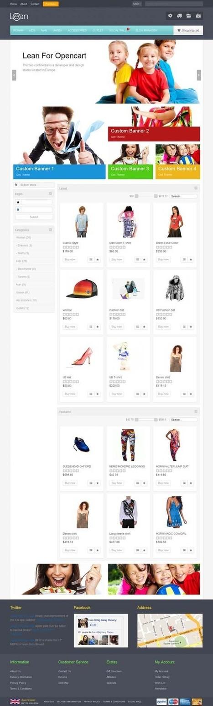 Lean, OpenCart Responsive Customizable Market Theme | Premium Download | Premium Opencart Themes | Scoop.it