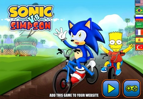 Sonic Vs Simpson | Racing Games | Adventures Games | Avatar Games | Scoop.it