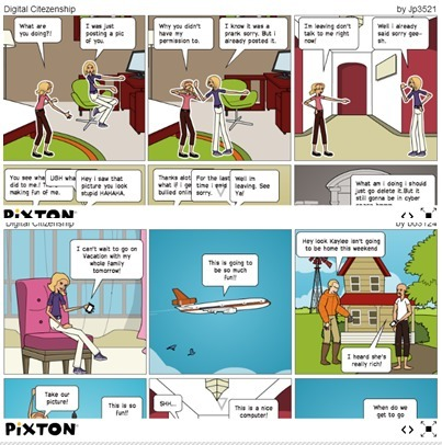 8th grade ICT Digital Citizenship Comic Strips 2015 | Social Media and its influence | Scoop.it