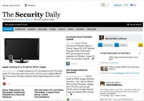 Security Daily: A new way to aggregate InfoSec news | TechRepublic | All Things Paper.li | Scoop.it