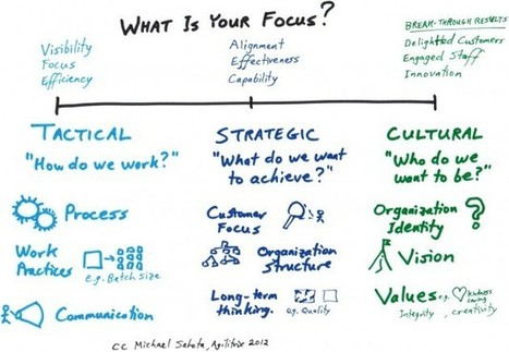 Tactics, Strategy, & Culture – A Model for Thinking about Organizational Change | Art of Hosting | Scoop.it
