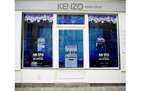 Kenzo Opens a Pop-Up Shop With a Giant Digital Aquarium Screen On Site - Complex.com | digital marketing | Scoop.it