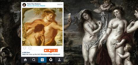 Quand Instagram s'incruste dans des tableaux de la Renaissance | Médias sociaux et tourisme | Scoop.it