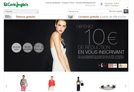 El Corte Inglés se lance dans l'e-commerce en France | Commerce  omni canal | Scoop.it