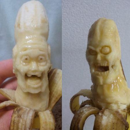 sculpting on bananas   Food Culture   Scoop.it