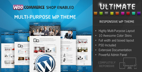 Ultimate - Multi Purpose Responsive WP Theme   Medical wordpress themes   Scoop.it