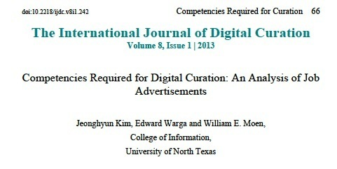 Digital Curator: The Competencies Required - A ...